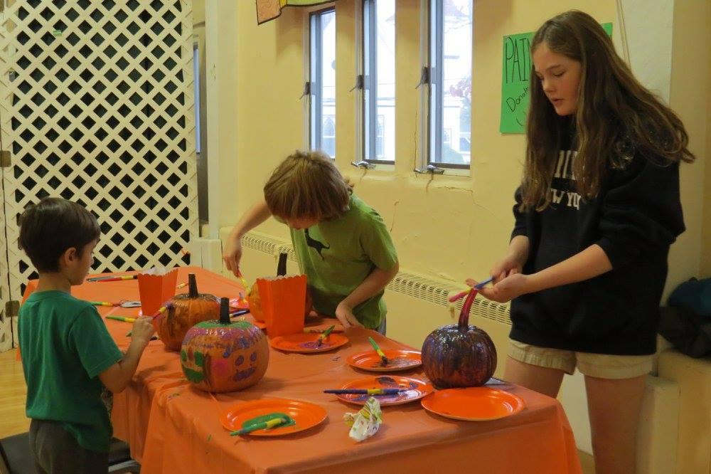 pumpkin painting sunday school